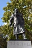 温斯顿・丘吉尔雕象伦敦,欧洲 库存图片