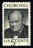 温斯顿・丘吉尔美国邮票 免版税图库摄影