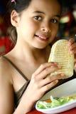 温暖午餐的panini 库存图片