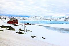 温暖和安全家庭农夫,挪威 免版税库存图片