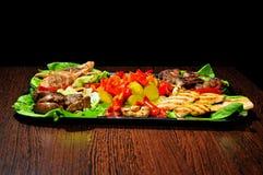 温暖开胃菜的种类 免版税图库摄影
