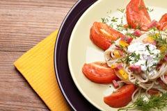 温暖意大利的沙拉 免版税库存图片