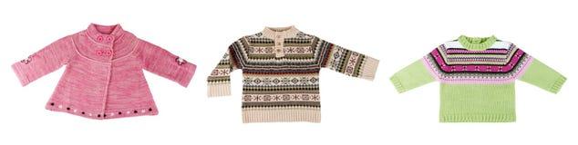 温暖拼贴画的毛线衣三 免版税库存照片