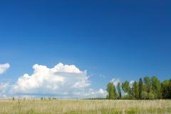 温暖横向午间晴朗的村庄 免版税库存图片