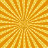 温暖橙色流行艺术减速火箭的可笑的背景光栅 免版税库存图片