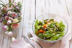 温暖沙拉的蔬菜 图库摄影