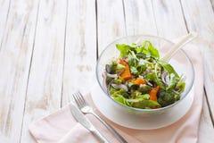温暖沙拉的蔬菜 库存图片