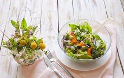 温暖沙拉的蔬菜 免版税库存照片