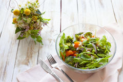 温暖沙拉的蔬菜 免版税库存图片