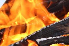温暖火关闭 库存照片