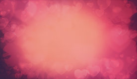 温暖的华伦泰心脏背景 图库摄影
