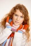 温暖的可爱的打扮的女性 免版税库存照片