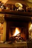 温暖的壁炉 免版税库存照片