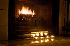温暖的壁炉 图库摄影