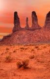 温暖的天空纪念碑谷 库存图片