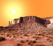 温暖的天空纪念碑谷 库存照片