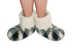 温暖的拖鞋 图库摄影