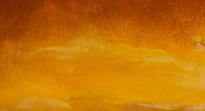 温暖的日落在山艺术性的绘画背景中 免版税图库摄影