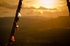 温暖的日落 免版税图库摄影