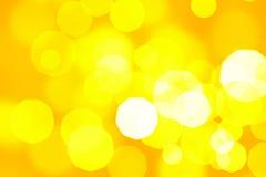 温暖的橙色抽象bokeh 免版税库存照片