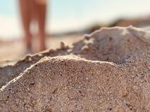 温暖的沙子 免版税库存照片