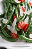 温暖的沙拉用青豆和帕尔马干酪 图库摄影