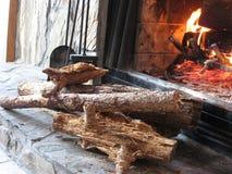 温暖的火 免版税图库摄影