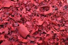 温暖的红色蜡烛卷烟纸 免版税库存图片
