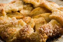 温暖的苹果馅饼关闭 免版税库存照片