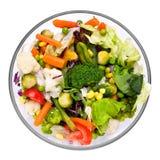 温暖的菜沙拉 免版税图库摄影