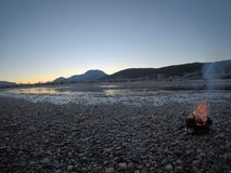 温暖的营火 库存照片