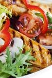 温暖的鸡丁沙拉 免版税库存图片
