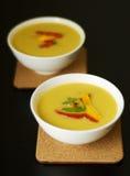 温暖秋天的汤 免版税库存图片