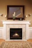 温暖舒适的壁炉 库存图片