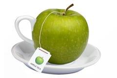 温暖苹果早餐饮料热的茶 免版税库存图片