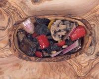 温暖蘑菇的沙拉 免版税图库摄影