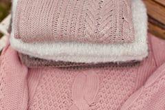 温暖被编织的毯子 图库摄影