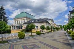 温泉中心-步行区- Frantiskovy Lazne Franzensbad 库存照片