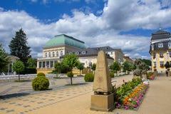 温泉中心-步行区- Frantiskovy Lazne Franzensbad 图库摄影
