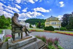 温泉公园-歌德广场- Marianske Lazne Marienbad -捷克 免版税库存照片