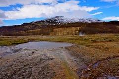 温泉冰岛 库存照片