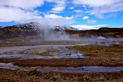 温泉冰岛 免版税库存照片