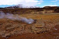 温泉冰岛 免版税库存图片