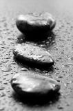 温泉向湿扔石头 免版税库存图片