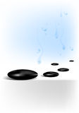 温泉向waterdrops扔石头 免版税库存照片