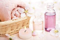 温泉和芳香疗法 库存照片