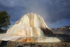 温泉在帕戈萨斯普林斯,科罗拉多,美国 免版税库存图片