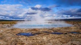 温泉城冰岛 库存照片