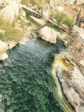 温泉城小河 库存图片