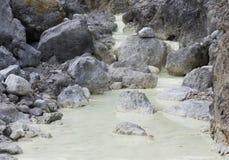 温泉城用硫磺富有水 免版税库存照片